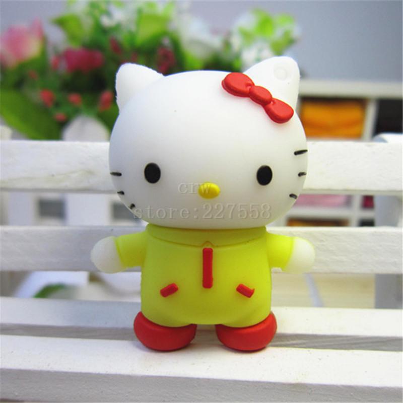 Pen drive 8gb/16gb/32gb/64gb usb 2.0 flash drive cartoon usb drives cat hello kitty usb flash disk pendrive(China (Mainland))