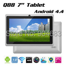 Cheap Q88 A23 dual core or A33 quad core Tablet PC 7inch Capacitive Screen Android 4.4 tablet 512M 8G Allwinner A33 kids tablet