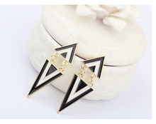Punk Style Triangle Alloy Statement Earrings Gift Party Dress Jewelry Earring Wholesale