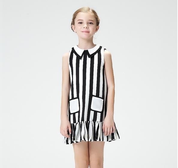 China wholesale manufacturers cheap dress Kids dress young girls stripe dress of cotton for little girls fancy dress(China (Mainland))