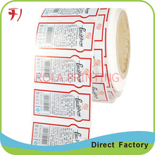 Customized       kraft paper bar code sticker printer use