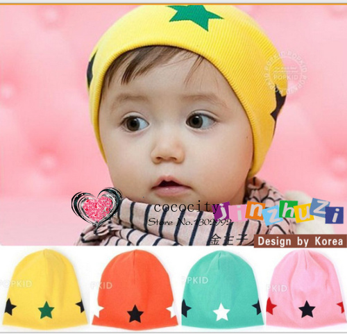 2014 NEW 100% Cotton Baby Hat Big Size 19*19 cm cute Star baby cap Kids hats Beanie Infant hat children boys& gilrs hat(China (Mainland))