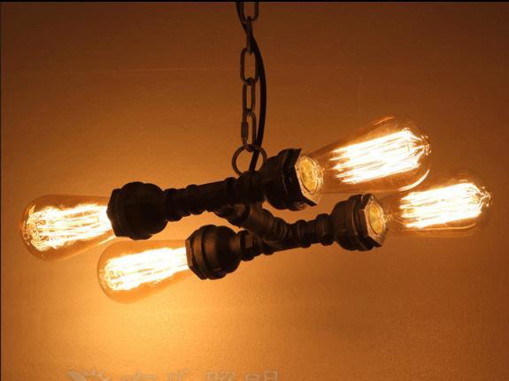 Здесь можно купить  4 Heads American Retro Iron Pendant Lamp Industrial Water Pipe Light Loft Light Bar Light Free Shipping 4 Heads American Retro Iron Pendant Lamp Industrial Water Pipe Light Loft Light Bar Light Free Shipping Свет и освещение