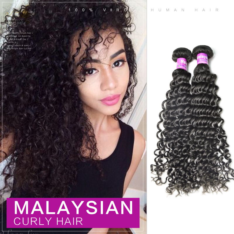 FREE SHIPPING 5A 1pcs lot(8~32inch) DOUBLE DRAWN unprocessed remy virgin mona hair natural #1b  Malaysian hair weave<br><br>Aliexpress