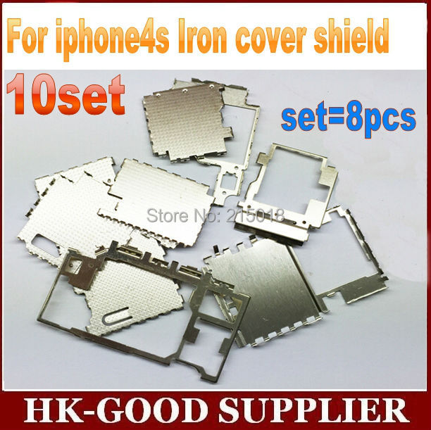 10set cover For iphon4s Iron cover shield with main board set=8pcs freeshipping