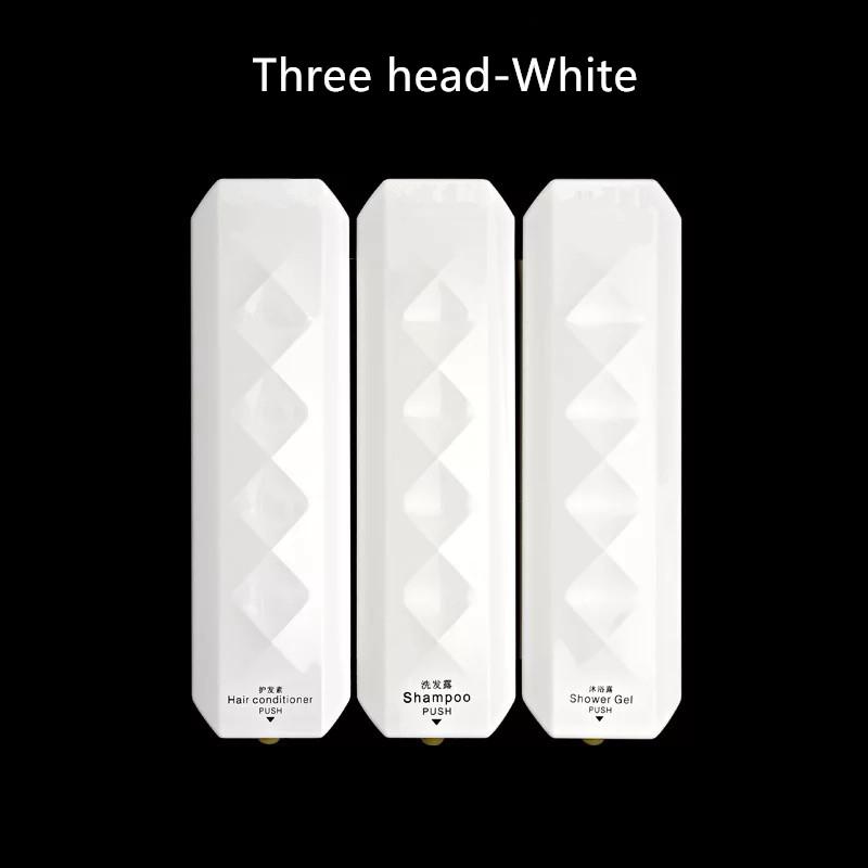 Hotel bathroom liquid soap dispensers Wall-mounted hotel toilet bathroom manual three heads(China (Mainland))