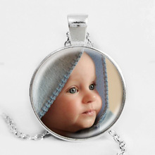 Personalized Photo Pendants Custom Necklace Photo of Your Baby Child Mom Dad Grandparent Loved One Gift for Family Member Gift(China (Mainland))