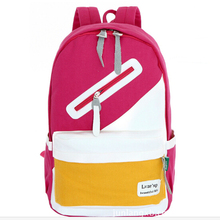 Detonation model new contrast color canvas contracted fashion student tourism leisure laptop bag cute joker woman backpack D039(China (Mainland))