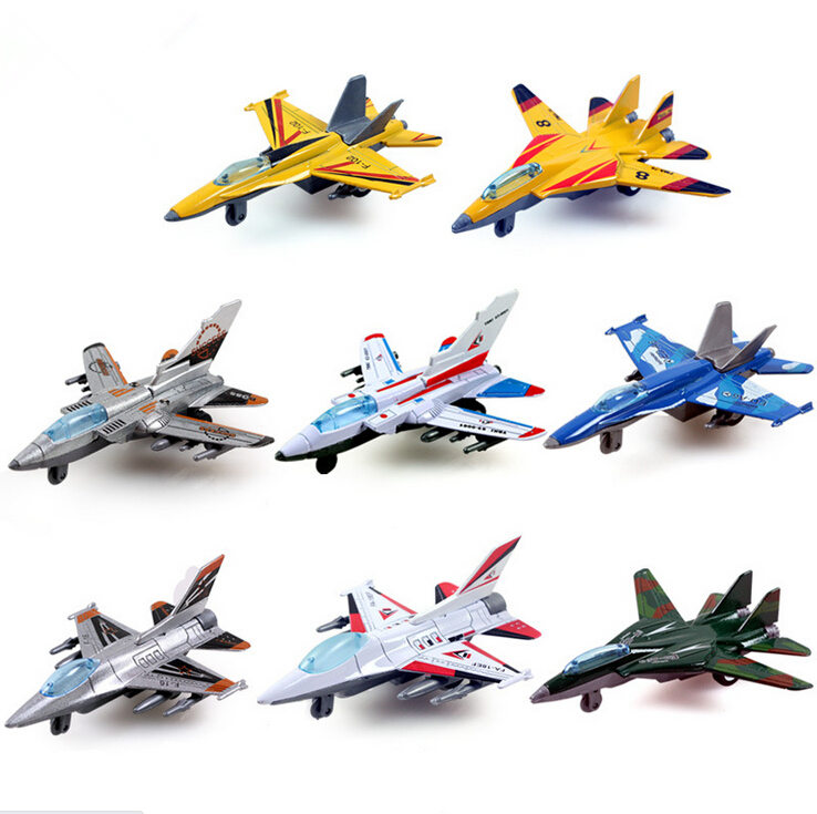Mini Pull Back Aircraft Models Toys Metal Alloy Plane Toy Favorites Kids Christmas Gift Education Children Aircraft 8pcs/lot(China (Mainland))