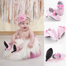 New Fashion 2016 Hot Selling Infant Toddler Crib Babe Newborn Baby Girls Princess Bow Mary Jane Ballet Dress Shoes High Heels(China (Mainland))