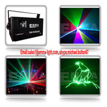 Discount promotion 2w rgb stage laser lighting dj party light laser projector(China (Mainland))
