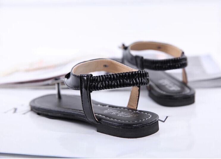 2015 women shoes high heel summer platform sandals Female slippers fashion leather flat woman flip flops free - BLUELEMON store