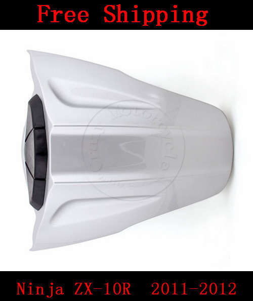 For Kawasaki Ninja ZX10R ZX 10R 2011-2012 motorbike seat cover Brand Motorcycle Silvery white fairing rear sear cowl cover(China (Mainland))