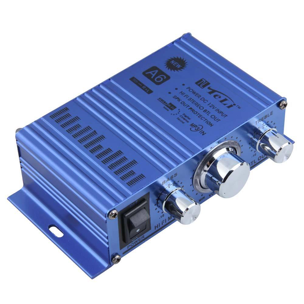 Гаджет  BS#S TELI-A6 Mini Hi-Fi Audio Stereo Amplifier for Car Motorcycle Boat Home None Бытовая электроника