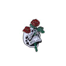 Shshd Rose Skull Bros Buku Lucu Roll Kertas Enamel Pin Tas Lencana Jaket Denim Kerah Pin Wanita Kartun Perhiasan untuk anak-anak Hadiah(China)