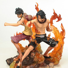 Buy 2PCS/SET Anime one piece Monkey D Luffy Portgas D Ace PVC Action Figure Resin Collection Model Doll Toy Gifts Doll Cosplay for $15.99 in AliExpress store
