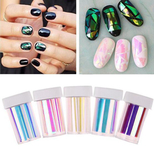 5Pc/Lot 2016 Fashion Punk Transfer Foil Sticker Broken Glass Nail Art DIY Nail Beauty Decoration Stencil Decal NA1079(China (Mainland))