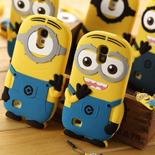 Fashional new arrival cute cartoon model silicon material Despicable Me Yellow Minion Case for Samsung Samsung Galaxy S4 I9500(China (Mainland))