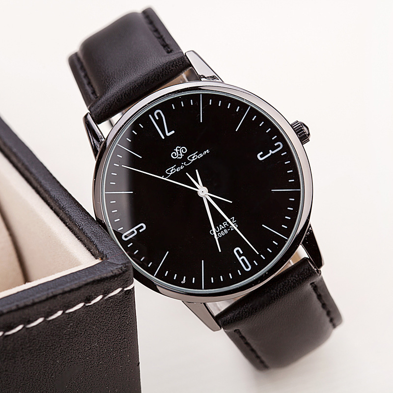 2015 New Fashion High Quality Simple Vintage Digital Soft Leather Stainless Steel Quartz Wristwatches For Men Or Women WB097(China (Mainland))