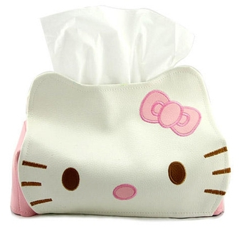 Cute cat leather tissue box tissue pumping paper towel tube Table Decoration napkin holders household products napkin box