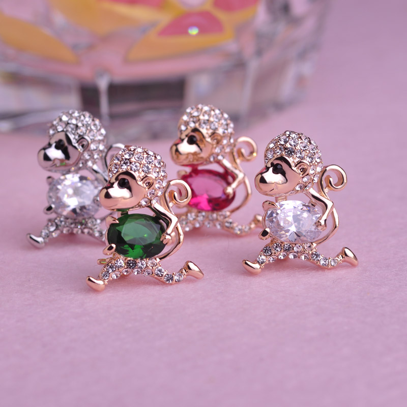 35% off bulk sale little money brooches for women girls 18k gold plated pink rhinestone corsage lovely bijoux 2016 free shipping(China (Mainland))