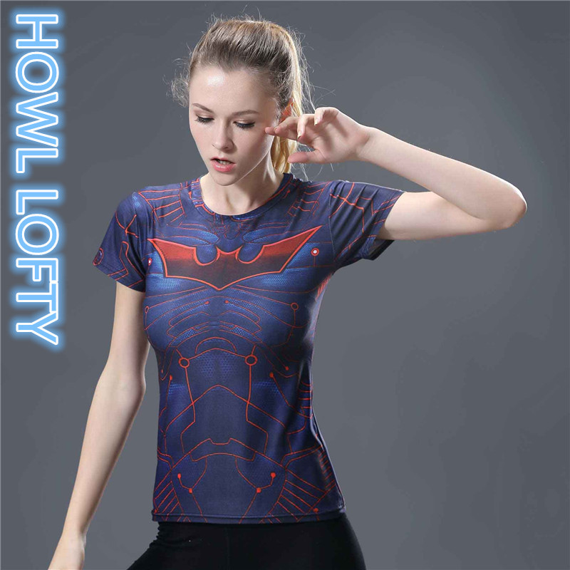 Superman VS Batman Compression Shirt 3D Printed T shirt Women Novelty Short Sleeve Crossfit Tops Female Cosplay Costume Lady