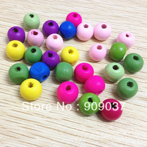 500pcs/lot 10mm Fashion Wooded Korea Round Beads Jewerly/Wooden Jewelry Accessory