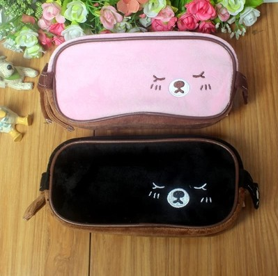 2014 New Cute Soft Plush Cat Pencil Pen Card Case Cosmetic Notebook Makeup Bag Pouch<br><br>Aliexpress