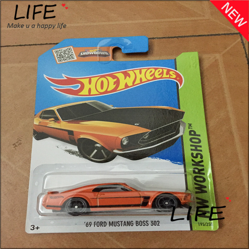 Free Shipping Hot Wheels 69 Mustang Boss 302 Car Models Metal Diecast Cars Collection Kids Toys Vehicle For Children Juguetes 54(China (Mainland))