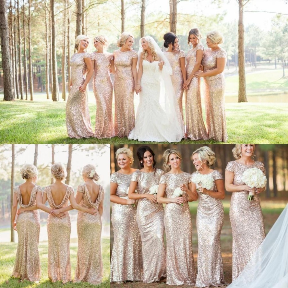 Bridesmaid Dresses Rose Gold 117
