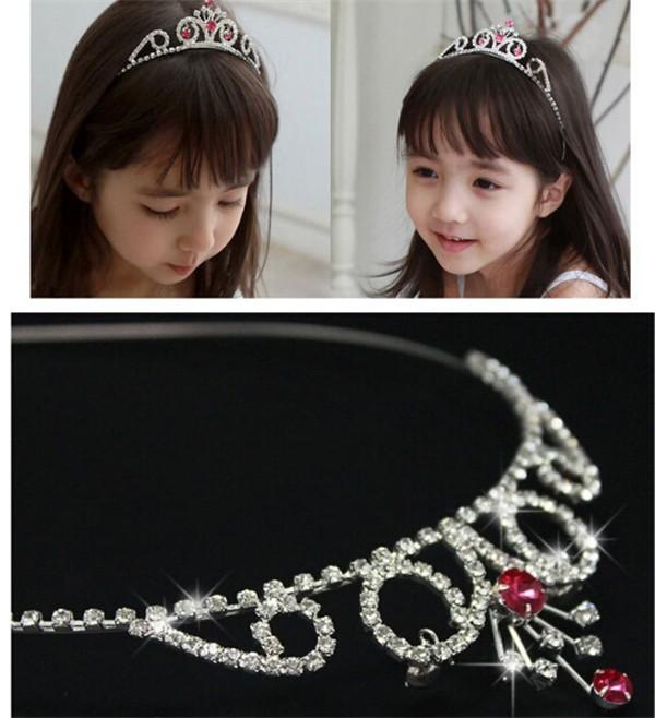 Cheap Wholesale Custom Make Pink Crowns Kid Child Hair Wear Pageant Tiara Crown KC004(China (Mainland))
