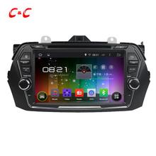 1024 x 600 четырехъядерный Android 4.4 dvd-плеер для suzuki CIAZ 2015 с GPS радио встроенный dvr, Поддержка OBD зеркало ссылка мжк