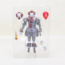 18cm NECA Stephen King é Pennywise palhaço palhaço PVC Action Figure Brinquedos para Meninos de Natal Dolls crianças presentes do Dia Das Bruxas(China)
