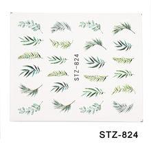 YAYOGE 1 unids/set mezclado 21 Diseño de Arte de uñas pegatina de transferencia de agua hojas de flores coloridas Arco Iris patrones calcomanía manicura(China)