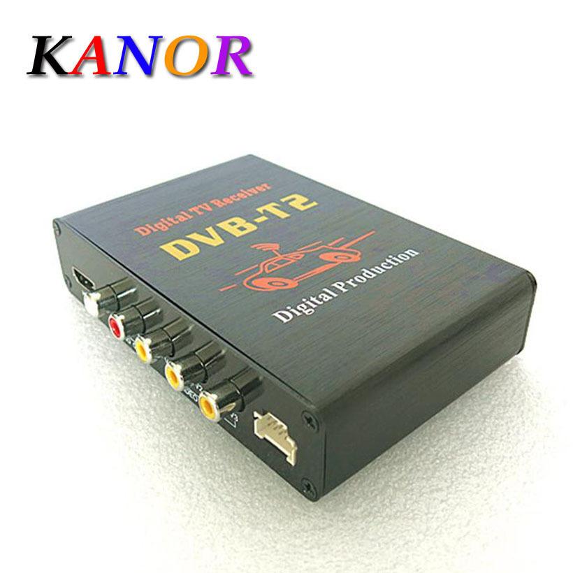 DVB T2 H.264 Free shipping MPEG4 Mobile Digital TV Box External USB DVB-T2 Car TV Receiver Russian&Europe&Southeast Asia(China (Mainland))