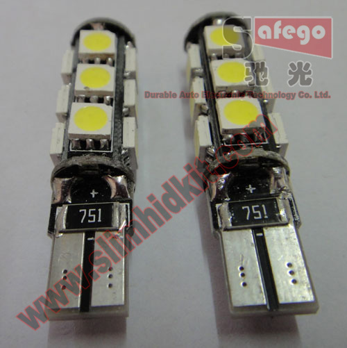 100pcs LED Car / auto interior bulbs Canbus t10 13 smd 5050 W5W (194 168) 147 152 158 159 161 193 194 259 280 285 447 464(China (Mainland))