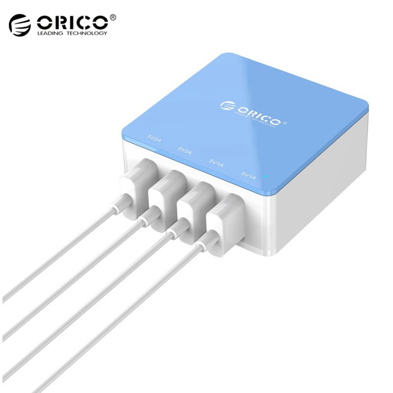 Original ORICO 4 Port USB Desktop Charger Intelligent Charging IC Power Universal For iphone Mobile Phone Tablets USB Devices(China (Mainland))