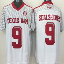 2016 Men's #2 Johnny Manziel #9 Ricky Seals-Jones #40 Von Miller Throwback 100% Stitched Red black White Jerseys(China (Mainland))