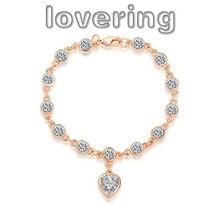 Victoria Wieck Heart Love Jewellery 18K White gold GF White Topaz Crystal Bracelets free shipping(China (Mainland))