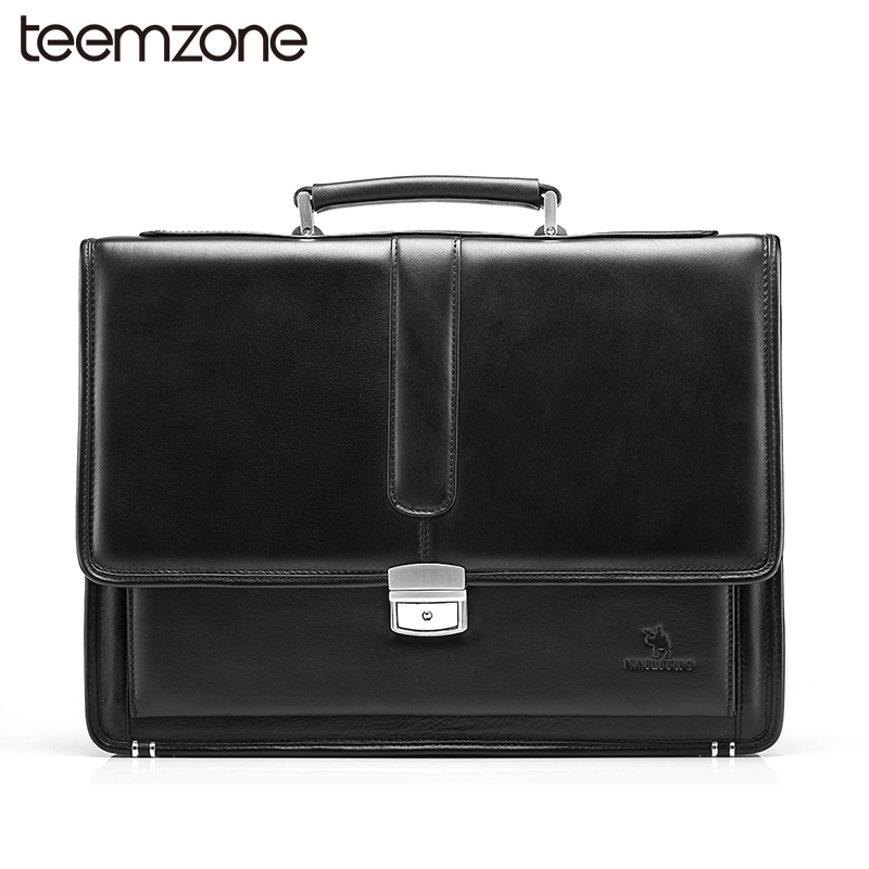 Free Shipping Hot Men's Genuine Leather Vintage Frmal Business Lawyer Briefcase Messenger Shoulder Attache Portfolio Tote T8880