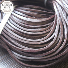 Buy 10meters/lot 3mm Flat 100% Genuine Cow Leather Cord Rope Thread String Diy Necklace Bracelet DIY Jewelry Materials F660 for $4.26 in AliExpress store