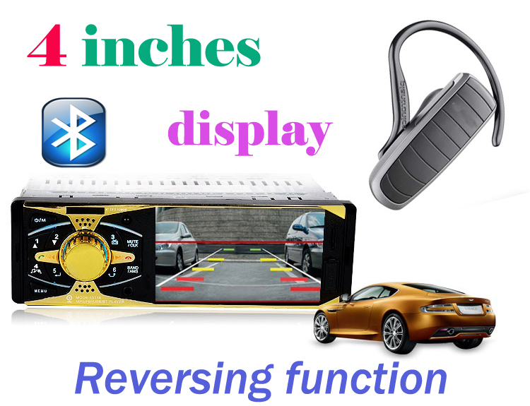 4''inch HD 1080P Car MP5 Player Supports Rear view camera/Stereo FM Radio/Bluetooth phone/MP3/MP4/Audio/Video/Subwoofer(China (Mainland))