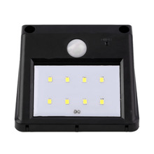 Solar Panel LED Flood Security Solar Garden Light PIR Motion Sensor 8 LEDs Path Wall Lamps Outdoor Emergency Waterproof Lamp(China (Mainland))