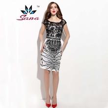 New 2015 SANA Famous Brand Women Dress European Elegant Basic Plaid Desigual Women Vestido 3 Colors Casual Dresses