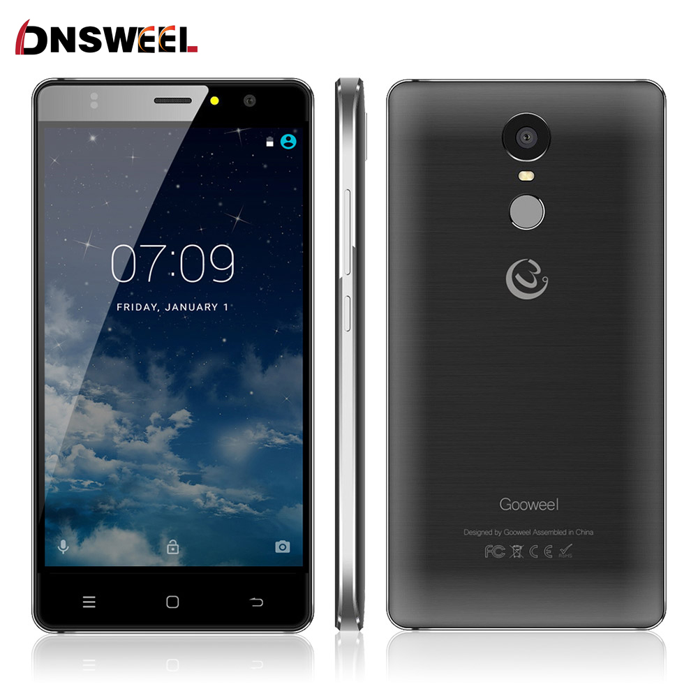 2016 New Gooweel M17 4G mobile phone Fingerprint ID MTK6737 Quad core 64bit 5.5inch IPS Android 6.0 smartphone 16GB 8MP GPS Cell(China (Mainland))