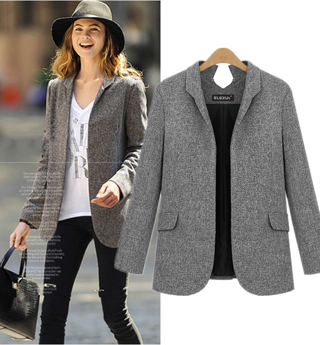 Grey Blazer Jacket Womens | Fashion Ql