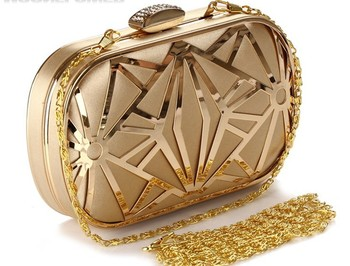 Women's Handbags 2014 New European and American Popular Evening Bag Hollow Metal Mesh Bag Hand Shoulder Bag Day Clutches 3030