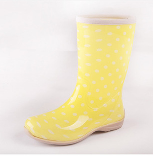 2012 lady dot canister  rain boots water shoes free shipping