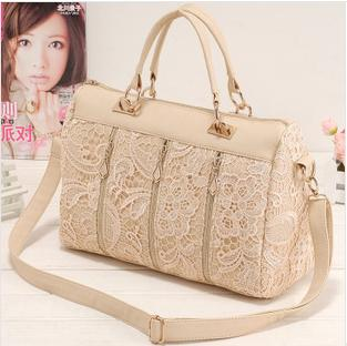 2016 princess lace fashion bag women's handbag women's cross-body bag women's messenger bag(China (Mainland))