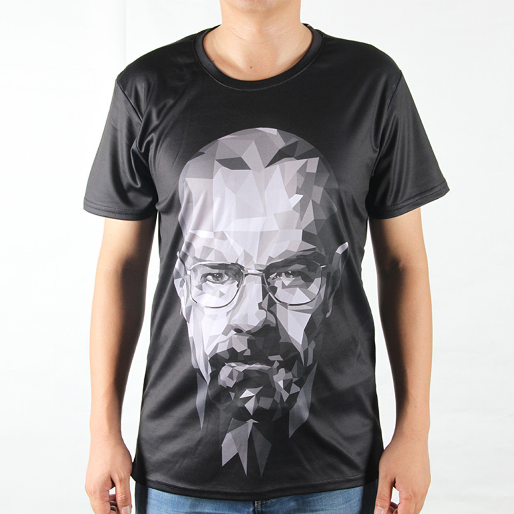 New Fashion Breaking Bad Printing Abstract T shirts Men Casual 3D T Shirts Harajuku Tees Man